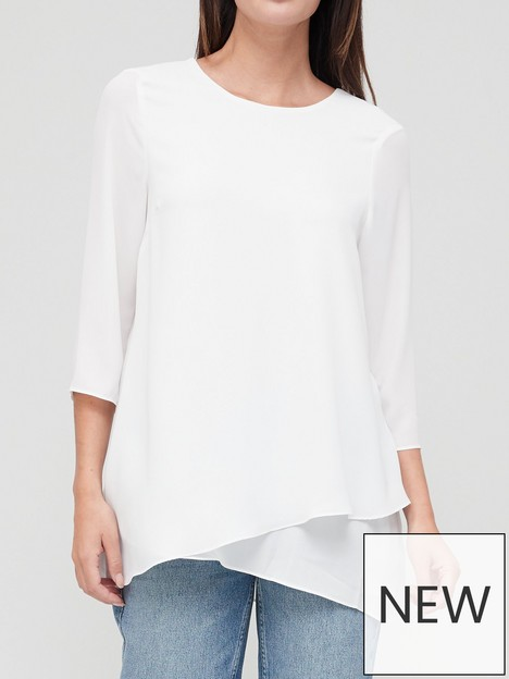 v-by-very-overlay-detail-blouse-ivory