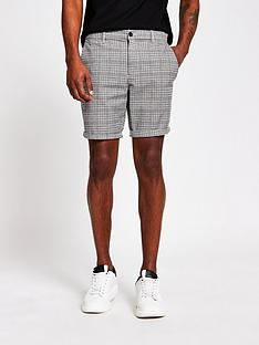 river-island-vince-check-skinny-short-brown
