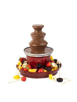 giles-posner-chocolate-fountain-ek3428gnbspwith-fruit-tray-and-100-bamboo-skewers