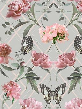 sublime-botanical-trellis-grey-pink-wallpaper