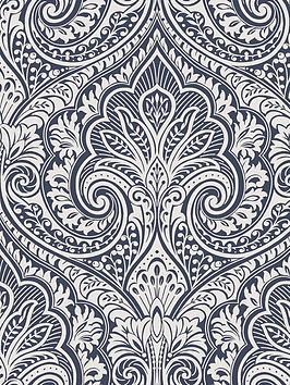 fresco-jamila-navy-silver-wallpaper