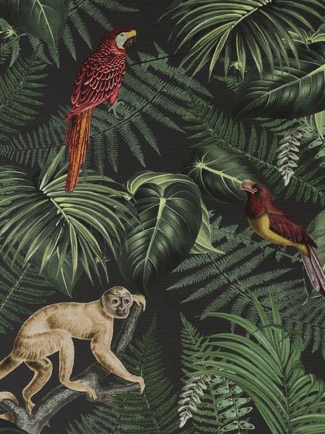 superfresco-easy-into-the-jungle-black-wallpaper
