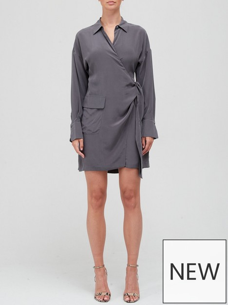 equipment-aaleah-silknbspwrap-dress-grey