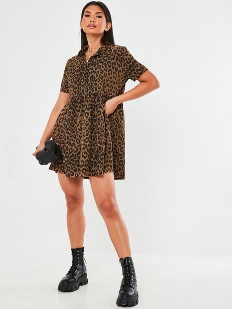 missguided-missguided-shirt-smock-dress-brown-leopard-print