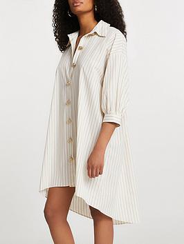 river-island-beige-stripe-shirt-dress-beige