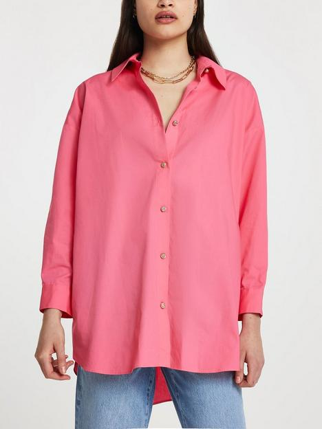 river-island-oversized-shirt-pink