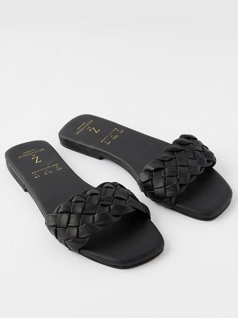 accessorize-tan-plaited-slider