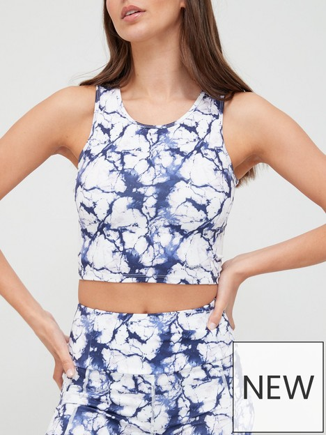 hunkemoller-marble-cropped-top-white