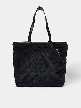 River Island Towel Shopper Bag - Black, Black, Women