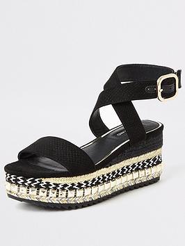 river-island-studded-wedge-sandal-black