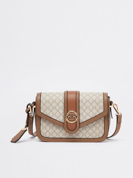 river-island-monogram-satchel-beige