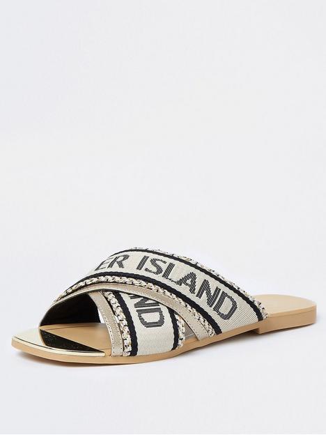 river-island-flat-sandal-cream