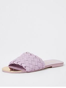 river-island-woven-flat-sandal-purple