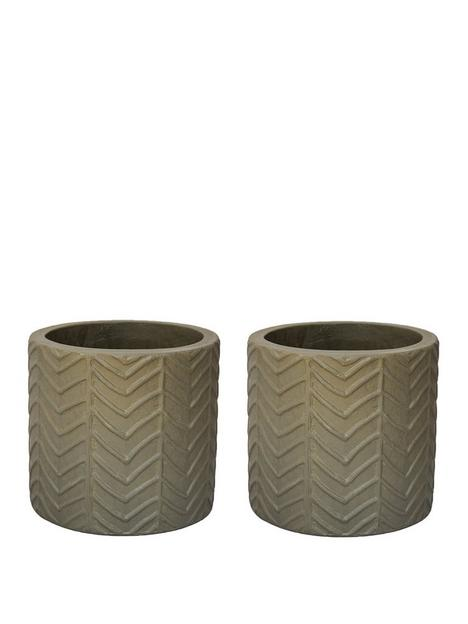 ivyline-pack-of-2-wave-taupe-cement-planters
