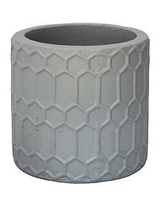 ivyline-geometric-grey-cement-planter