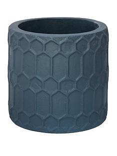 ivyline-geometric-teal-cement-planter