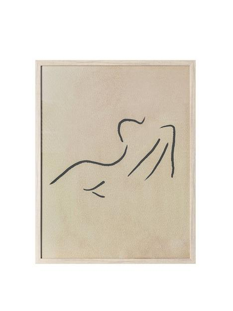 gallery-silhoutte-relaxed-line-drawing-framed-print