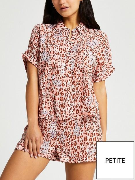 ri-petite-petite-embellished-printed-shirt--animal