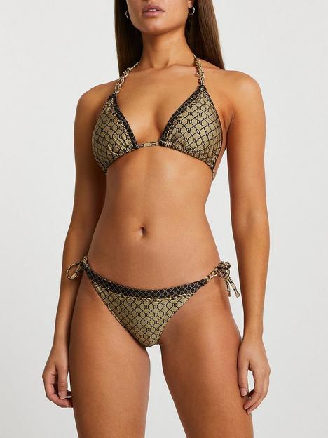 river-island-monogram-tie-side-bikini-brief-brown
