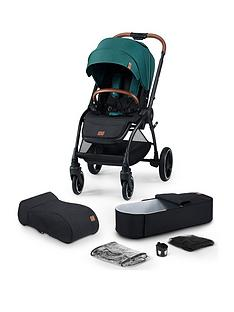 kinderkraft-stroller-evolution-cocoon-2in1-midnight-green