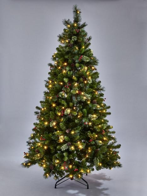 8ft-brookfield-pre-lit-christmas-tree-with-pinecones-amp-berries