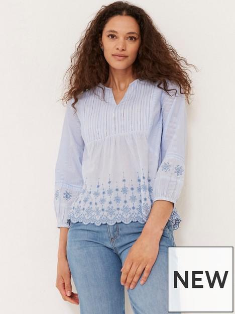 fatface-jessica-embroidered-stripe-blouse-blue