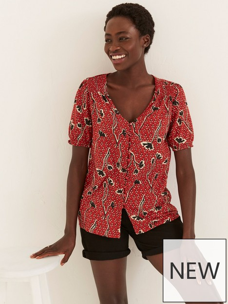 fatface-sandra-floral-longline-top-red