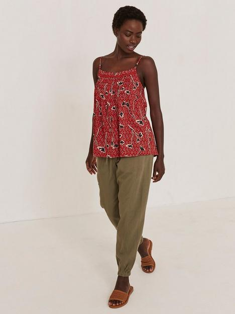 fatface-sian-floral-cami-red