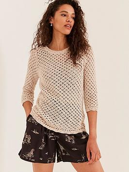 fatface-chloe-crochet-jumper-cream