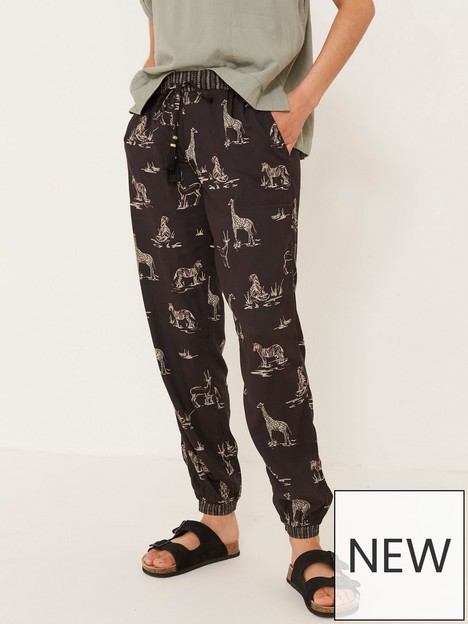 fatface-lyme-safari-animal-cuffed-trouser--nbspblack