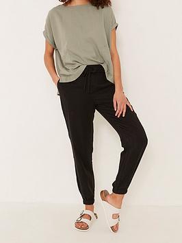 fatface-lyme-tencel-cuffed-trouser-black