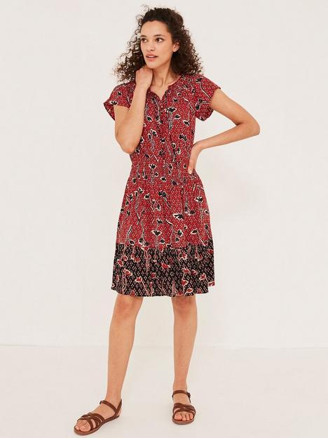 fatface-mika-bardot-floral-dress-red