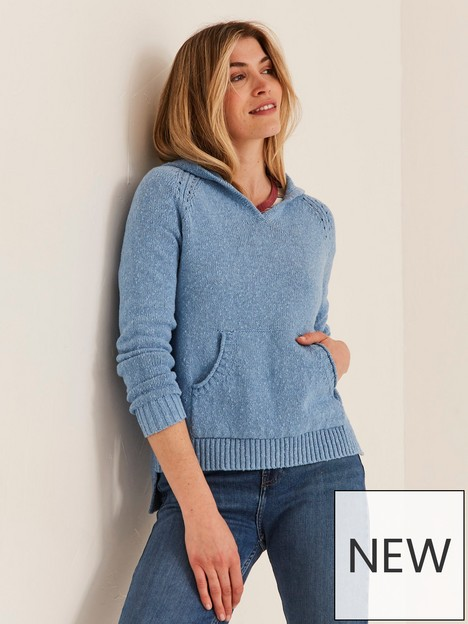fatface-lucie-knitted-hoodie-blue