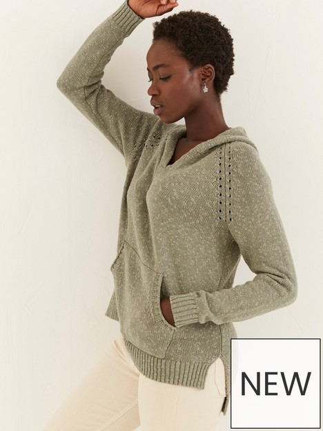 fatface-lucie-knitted-hoodie-green