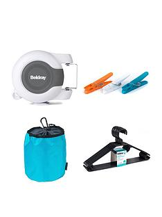 beldray-retractable-dual-washing-clothes-line-and-accessories-pack