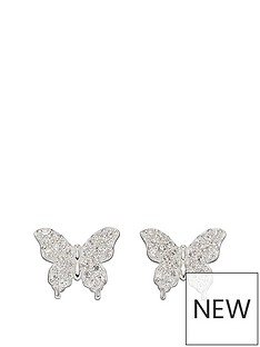 the-love-silver-collection-sterling-silver-madagascan-inspired-butterfly-cubic-zirconia-stud-earrings