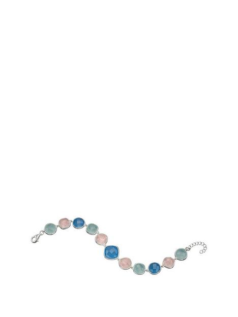 the-love-silver-collection-sterling-silver-semi-bracelet-set-with-chequerboard-cut-rose-quartz-and-blue-and-aqua-chalcedony-length-174cm