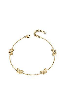 love-gold-9ct-yellow-gold-diamond-cut-butterfly-station-bracelet-length-173cm