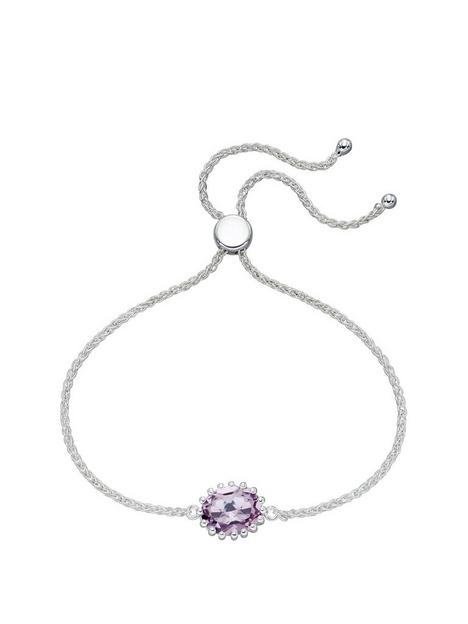 the-love-silver-collection-sterling-silver-pink-amethyst-toggle-bracelet