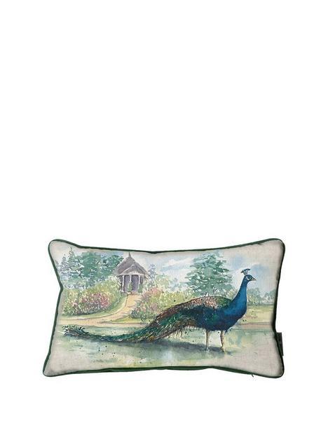 kilburn-scott-peacock-watercolour-cushionnbsp