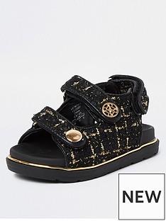 river-island-mini-girls-velcro-boucle-strap-sandals-black