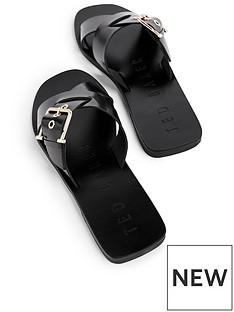 ted-baker-buckle-detail-flat-sandal
