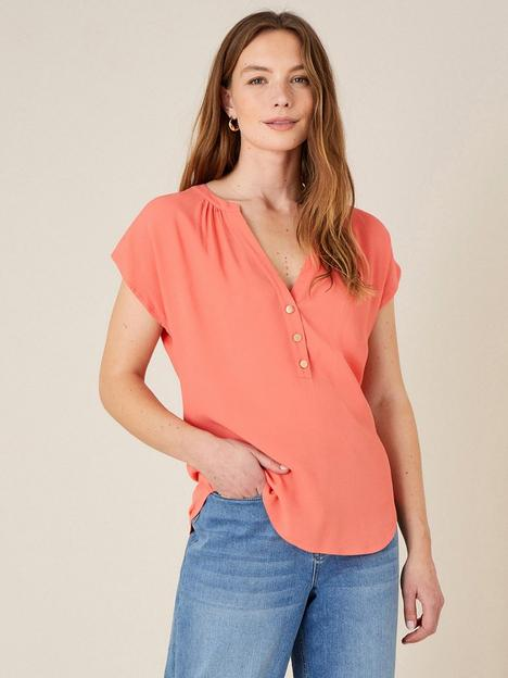 monsoon-waverly-woven-front-button-detail-top