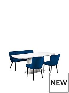 julian-bowen-como-table-2-luxe-blue-chairs-luxe-bench