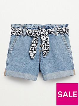 mango-mango-girls-belted-high-waisted-denim-shorts