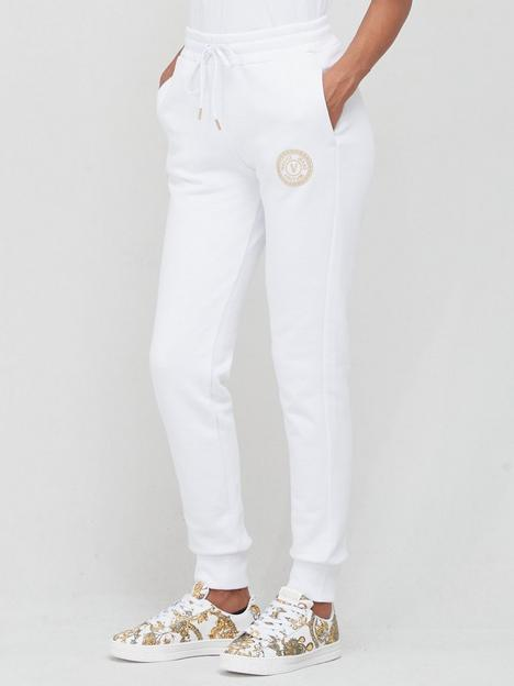 versace-jeans-couture-foil-logo-joggers-white