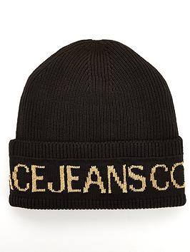 versace-jeans-couture-logo-beanie-hat-black