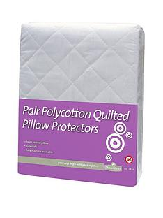 Downland Standard Quilted Pillow Protectors (Pair)