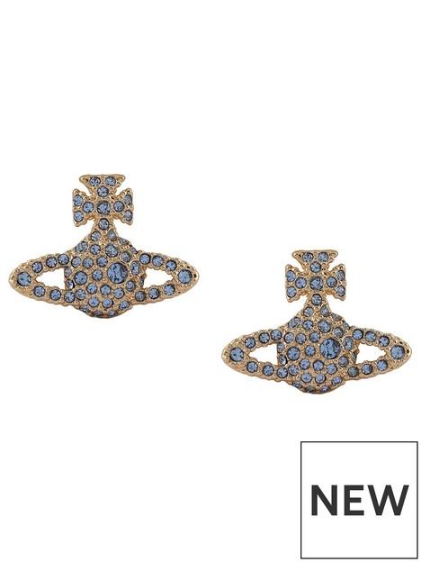 vivienne-westwood-grace-bas-relief-stud-earrings-gold