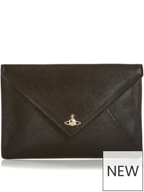 vivienne-westwood-victoria-envelope-clutch-bag-black